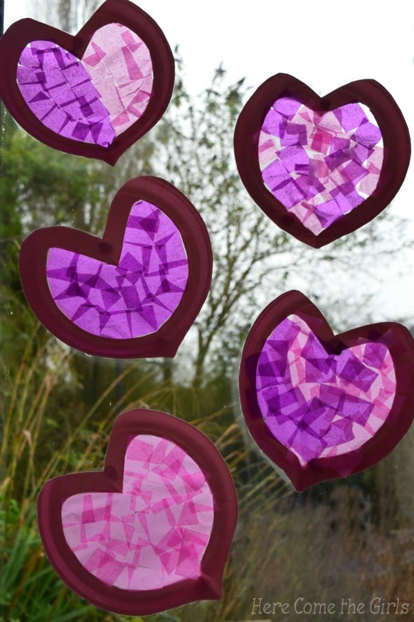 Paper Plate Hearts – Stained Glass Windows