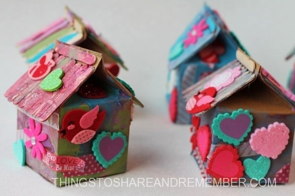 Recycled milk carton birdhouse craft for kids red ted for Recycling ideas for kids
