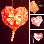 Simple Origami Paper Heart DIY - such a lovely little Heart Decoration (1)