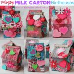 Recycled Milk Carton Birdhouse Craft for Kids