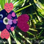 Valentine's Day CD Rainbow Fish Craft for kids