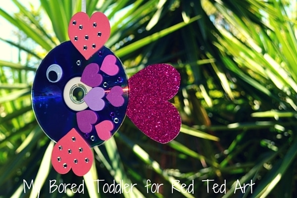 CD Rainbow Fish Craft for Valentines