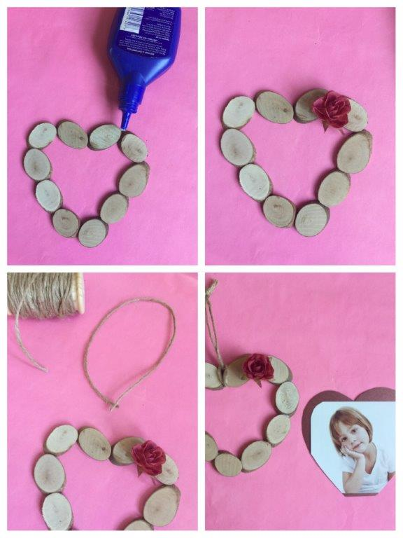 DIY Heart Ornament, doubles up as a Picture Frame too and makes a lovely Valentine's Day Gift or Christmas Ornament (3)