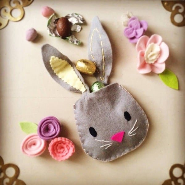 Easy BUNNY CRAFTS: bunny pouch