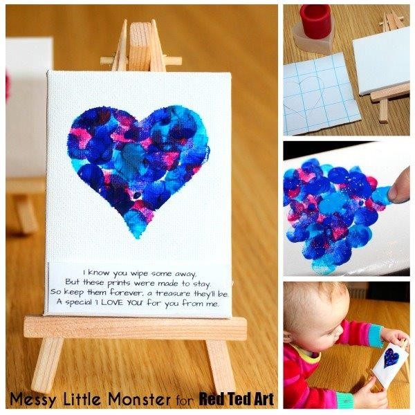 fingerprint keepsake heart collage