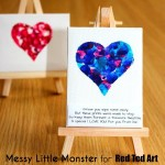 fingerprint heart mini canvas
