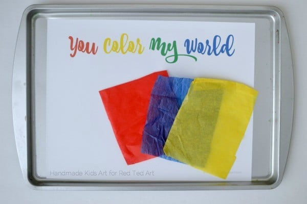 fun with color mixing tissue paper hearts - a wonderful STEAM project for kids (6)