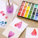 Watercolors for Kids – Heart Valentine's Cards