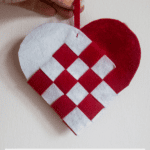 DIY Woven Heart Ornaments
