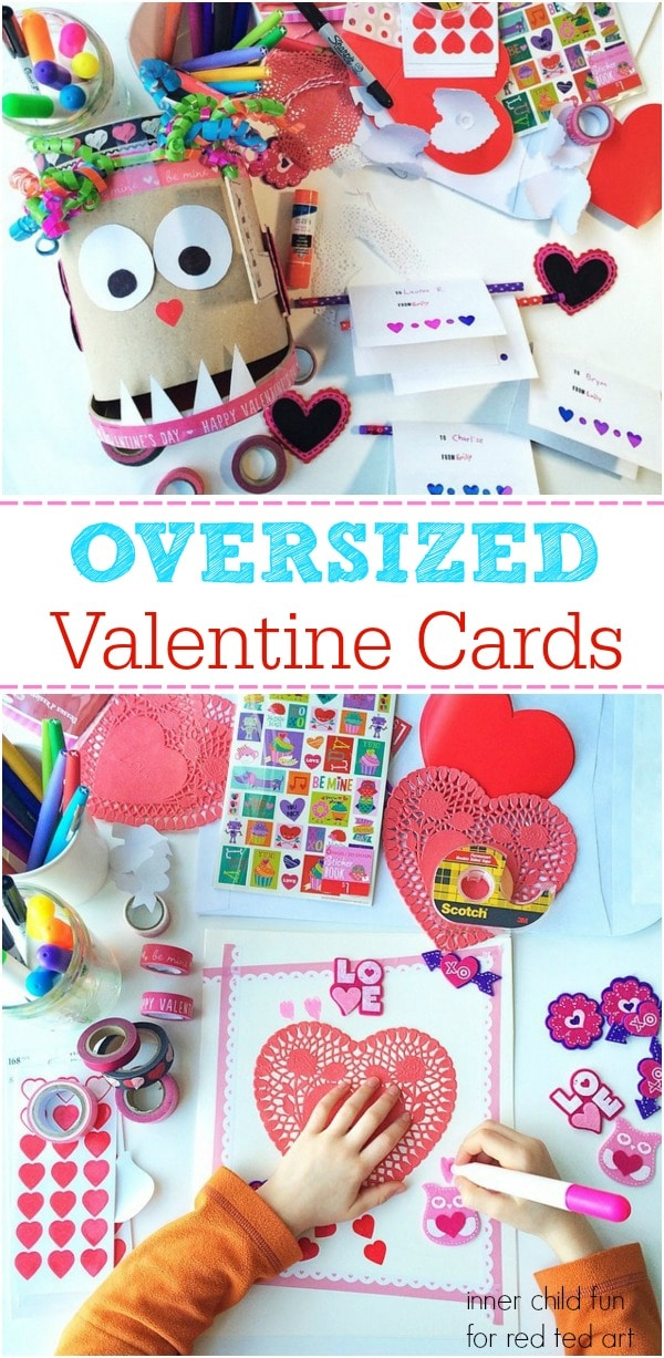 valentine's day cards for kids to make - these giant cards look so fun! (1)