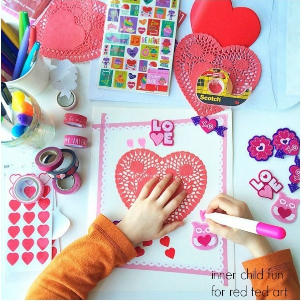 Giant Valentines Day Cards for Kids Red Ted Arts Blog – Valentines Cards from Kids