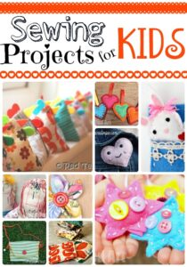 10+ Sewing Project for Kids - lovely kids projects that will help teaching kids to sew!
