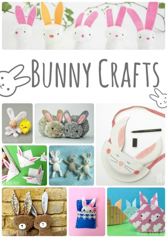 20+ Delightful Bunny Crafts - oh how do love those fluffly little bunnies! So many great rabbit crafts here to choose from. #bunny #rabbit #bunnycrafts #crafts #easter #kidscrafts #eastercrafts