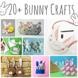 Easy Paper Bunny Craft - Bunny Easter Decorations. Super easy Paper Bunny Decorations for Easter! Love this easy Paper Easter DIY for Kids and grown ups a like. So cute. #easter #bunny #bunnydiy #bunnycraft #bunnyornament #papercrafts #papereastercrafts