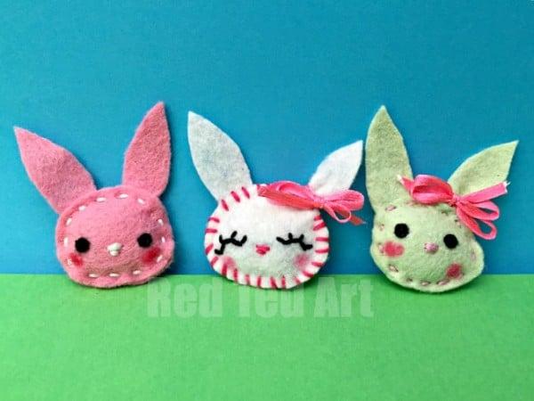 Easy Bunny Brooches