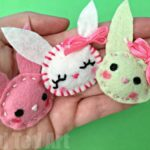 Felt Bunny Brooch (Easy Sewing)