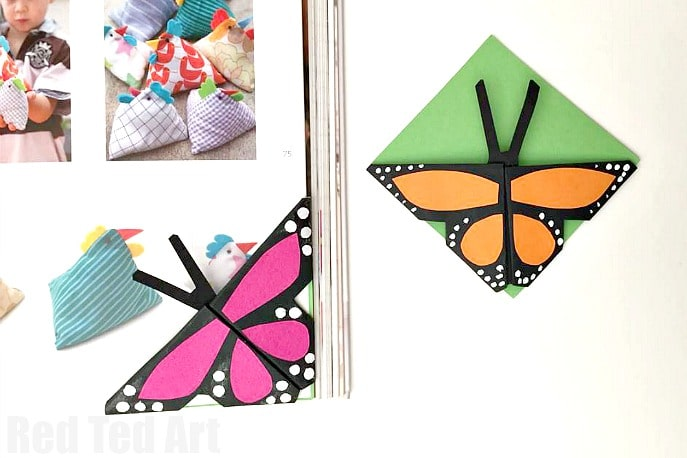 Easy Butterfly Bookmark Corner
