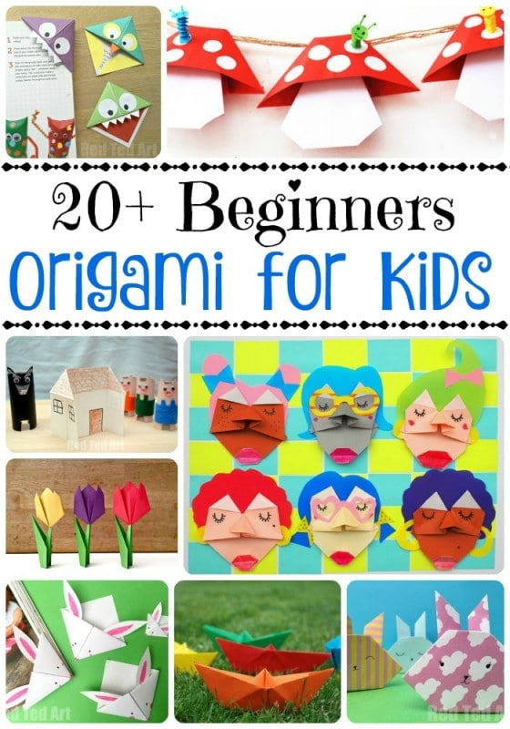Easy Origami For Kids - if you are looking for some fun and easy beginners origami projects for kids, take a look at these fabulous ideas #origami #easyorigami #kidsorigami #paper #papercrafts #kidscrafts