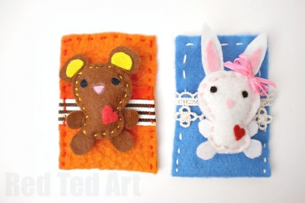 Cute Felt Softies, get your free patter to make these adorable woodland softies. Really LOVE the bunny and bear!