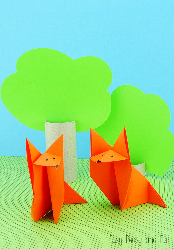 FoxOrigamiOrigamiforKidsTutorial Red Ted Art 39 s Blog