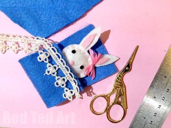 How to Sew an Easy Felt Bunny Softie. A super cute sewing project for kids