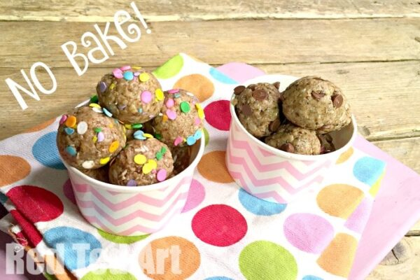 No Bake Granola Balls - healthy energy balls for kids