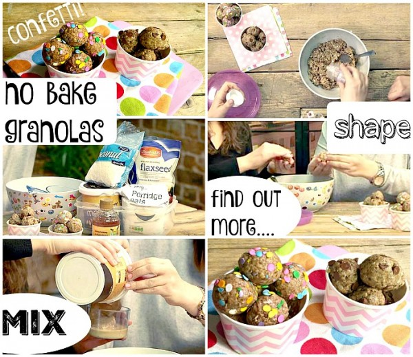No Bake Granola Balls - healthy energy balls for kids - love the sprinkle of confetti that make these super fun too!