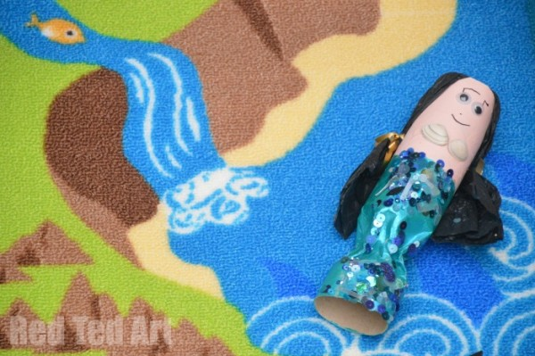 Pirate Play - make your own TP Roll Mermaid for Mermaid cove
