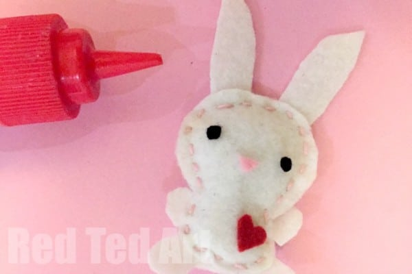 Sewing projects for kids - felt softie bunnies