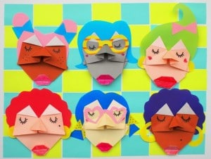 easy origami for kids - how to make fun origami faces