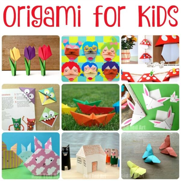 Easy Origami for Kids. A fantastic selection of origami for beginners and paper crafts.