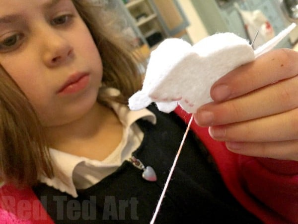 sewing with kids - make adorable little bunny felt softies