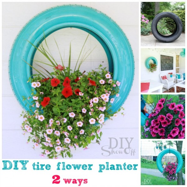 Tire DIY Ideas - reuse tires as planters