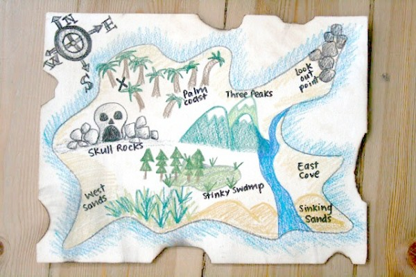 treasure map craft