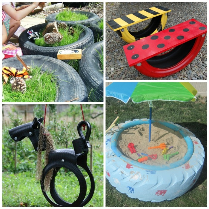 17+ Ways to Reuse Tires!