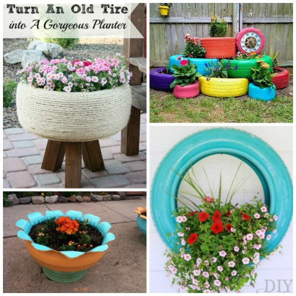 17 Ways To Reuse Tires Red Ted Art