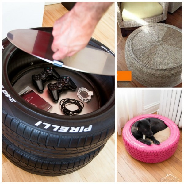 Home Design Ideas For Dogs: 17+ Ways To Reuse Tires!