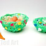DIY YARN BOWLS - these are so easy to make and great for Spring, Easter or Mother's Day!