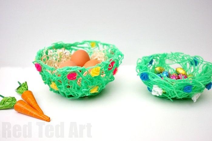 Diy Glue Yarn Bowls Cute And Easy Craft
