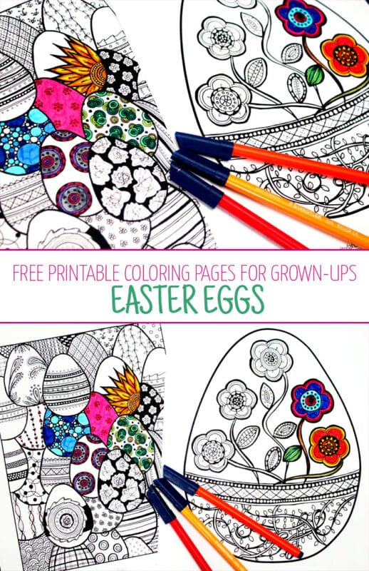 Easter Egg Coloring Pages for Growns Ups - these are so so pretty and free to download