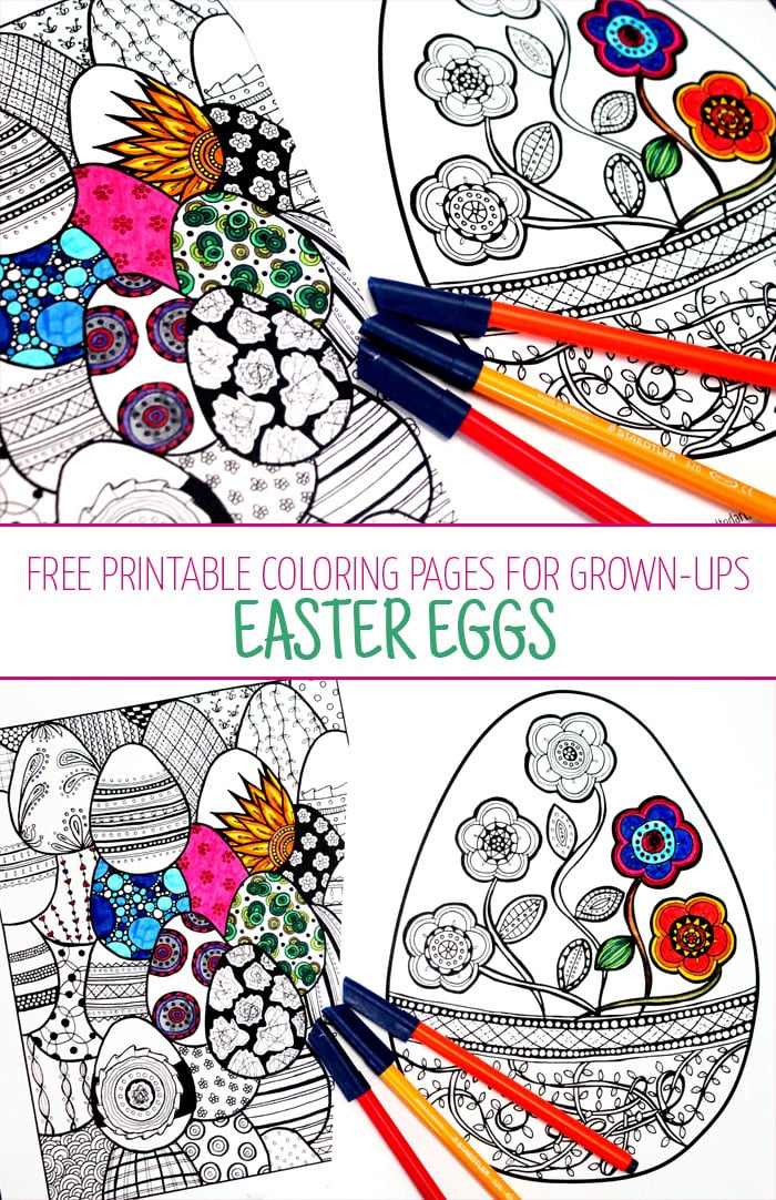 Easter Coloring Pages for Grown