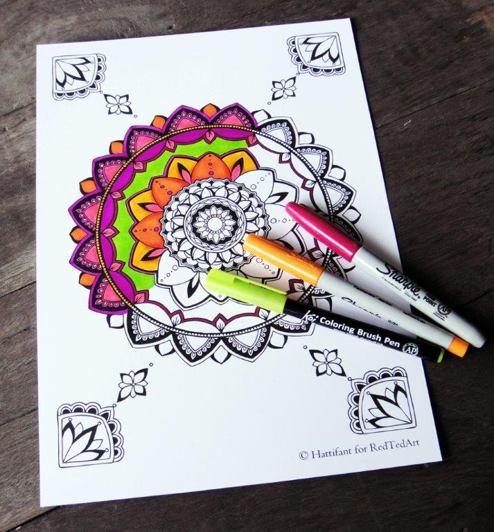 meaningful mandala coloring pages for grown ups - Free Coloring Pages For Grown Ups