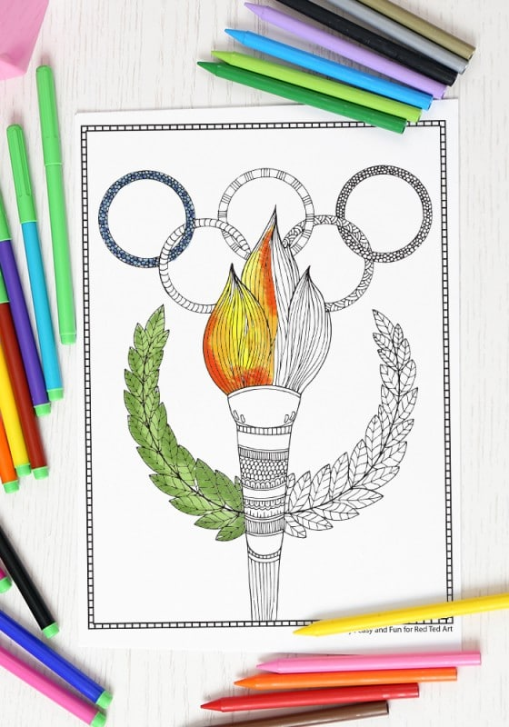 Olympics Coloring Page for Grown Ups (1)