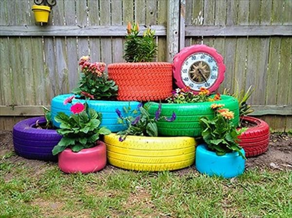 Reuse Tires as planters