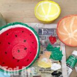 Papier Mache Summer Fruit Bowls