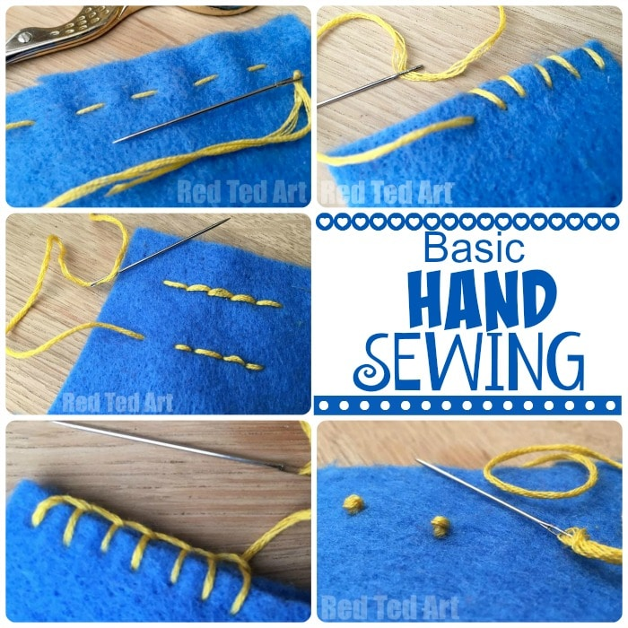 Basic Hand Stitches For Beginners Red Ted Art S Blog