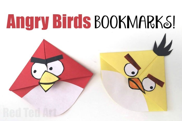 Angry Bird Corner Bookmarks - these are easy and super fun to make and give  sc 1 st  Red Ted Art & Angry Bird Crafts - Easy Bookmark Corners - Red Ted Artu0027s Blog
