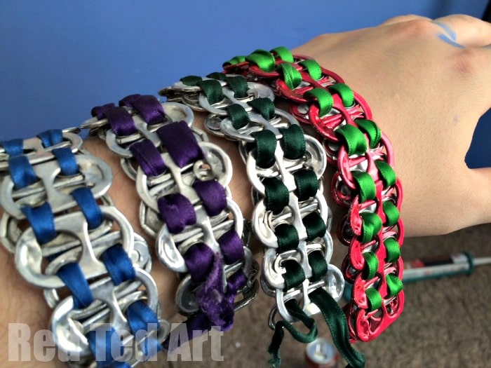 Diy Soda Pop tab bracelets - free to make and look fabulous