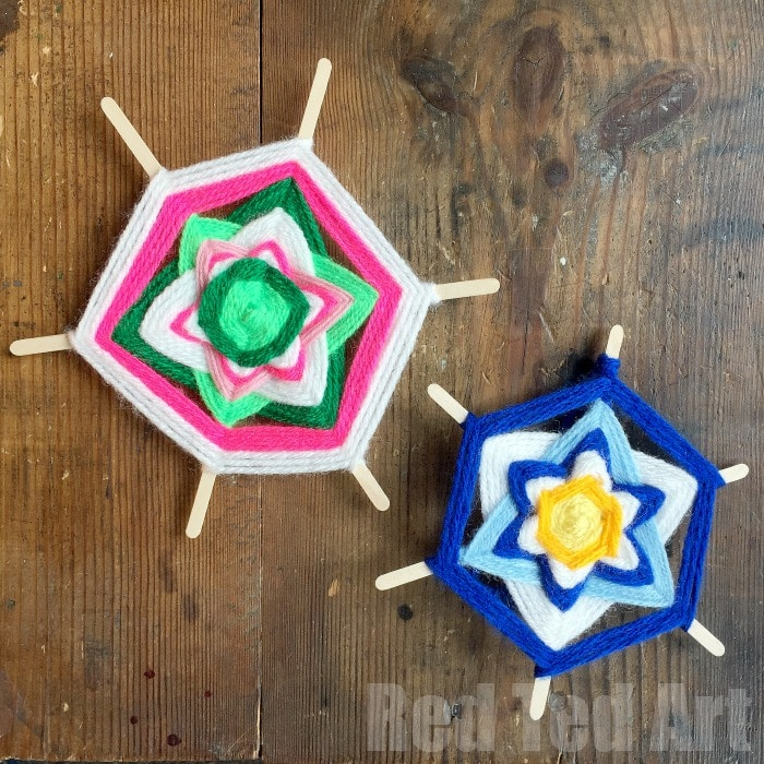 Flower God's Eye DIY - these are so so pretty and perfect for summer camp