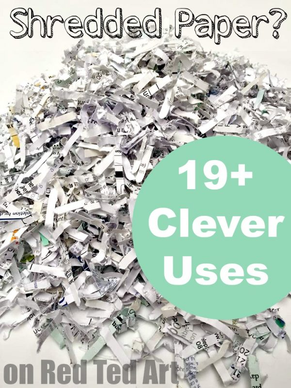 Great uses for shredded paper - some really clever shredded paper recycling ideas here